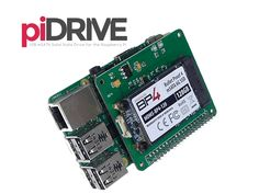 Introducing the PiDrive, a high capacity Solid State Drive (SSD) expansion card for the Raspberry Pi B+, A+, and B+ v2!
