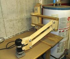 Pat Hawley's  router arm