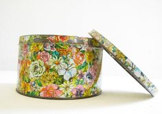 useful/useless boxes: floral pretty tin