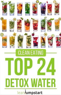 detox water: 24 clean, flavored recipes that boost your metabolism (flavored water recipes fat burning) Infused Water Recipes, Fruit Infused Water, Juice Recipes, Diet Recipes, Infused Waters, Water Infusion Recipes, Sugar Detox Recipes, Grilling Recipes, Smoothie Recipes