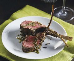 Roast Rack of Lamb with Lemon-Mint Salsa Verde - just 5 ingredients (plus salt and pepper) for a special spring supper.