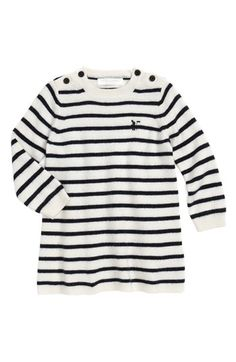 Burberry Stripe Sweater Dress (Baby Girls) available at #Nordstrom