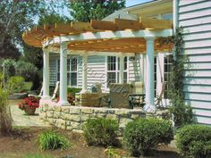 pergola plans I need this Built on my back patio, need like Yard Crashers to come by and hook . I need this Built on my back patio, need like Yard Crashers to come by and hook up my backyard! Patio Projects, Curved Pergola, Perfect Patio