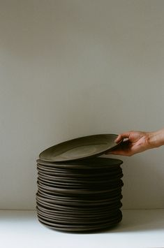 Handmade ceramic plates by Olivia Fiddes
