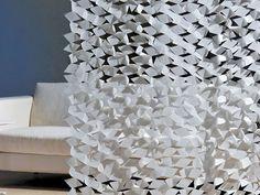 Lazer cut fabric curtains by Création Baumann