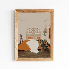 Boho Bedroom Digital Art Print