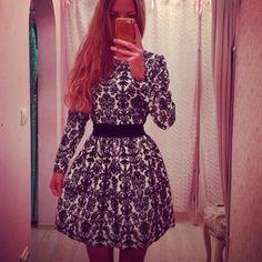 Купить товарЖенщин свободного покроя цветочные платья с длинным рукавом тонкий формальное ну вечеринку мини платье в категории Платьяна AliExpress.         100% новый и высокое качество                Цвет: черный                Материал; шифон                Размер: