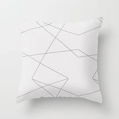 Dashed Lines Pattern Throw Pillow by Heidi Gosen - $20.00
