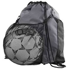 Convertible mesh pouch stashes when not in use Drawstring main compartment Polyester Ball in picture is not included. Sling Backpack, Drawstring Backpack, Volleyball Gear, Personalized Basketball, High Five, Duffel Bag, Convertible, Fashion Backpack, Pouch