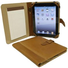 Piel Personalized Leather Padfolio iPad Case at Brookstone—Buy Now!