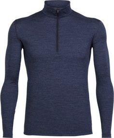Icebreaker Men's Bodyfit 200 Oasis Half-Zip Long Underwear Top Fathom Heather XXL