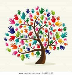 Clipart of Colorful solidarity hand tree - Search Clip Art, Illustration Murals, Drawings and Vector EPS Graphics Images - Hand Illustration, Hand Print Tree, Tree Clipart, Unity In Diversity, Cultural Diversity, Hispanic Heritage Month, Clip Art, Mothers Day Crafts, Art Plastique
