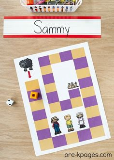 Baa Baa Black Sheep Nursery Rhyme Activities. A printable board game to help your preschool or Pre-K kids develop one-to-one correspondence skills and number sense.