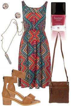 Aztec Warrior Outfit includes Butter London, Manzoni, and Sunny Girl - Birdsnest Online Clothing Store