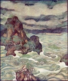 Edmund Dulac (1926), Scenes from Biblical History. The Flood