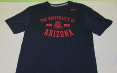 ARIZONA WILDCATS  NCAA  T  Shirt - Sz M Medium - Blue -  NIKE TRI BLEND #Nike #ArizonaWildcats