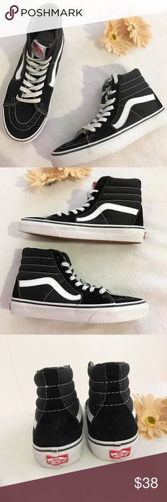 Vans Sk8-Hi Black Sneakers Vans Sk8-Hi Black Sneakers. SIZE: 6.5. Worn a couple of times and it need to clean up. Im just lazy to do it. But other than than, this shoes is in excellent used condition. 💟Feel free to ask questions 💟Reasonable offers considered 💟Add/Bundle another item to save 10% Vans Shoes Sneakers