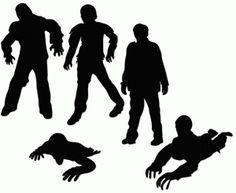 Silhouette Design Store: 5 piece zombie set