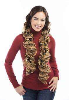 Premier® Yarns Twizzle Scarf #knit #pattern