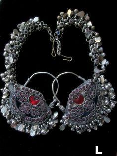 ~ Oh my! ~ Kuchi Tribal Jewellery Jangle Dance Earrings - with Jeweled Veil Chains