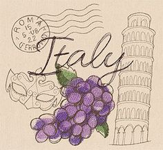 Craft a mini vacation to Italy with this collage of iconic symbols!