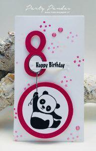Party Pandas, Large Number Framelits, Stitched Shapes Framelits