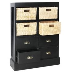 Check out this item at One Kings Lane! Nantucket Four-Drawer Unit, Black