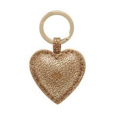 Mulberry Gift Kaleidoscope | Gold - Heart Keyring in Metallic Mushroom Goat