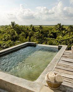 Jacuzzi, Big Sky Ranch, Be Tulum Hotel, Tulum Beach, Archi Design, Plunge Pool, Tulum Mexico, Garden Spaces, Pool Designs