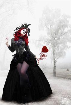959b5662024bef Goth Alice in Wonderland. Love it all. The white rabbit