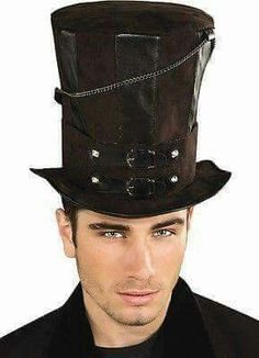 947e0fa6649 Rubie s Costume Steampunk Top Hat With Chains and Buckles