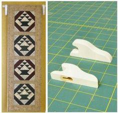 Quilt Hangers 2 Quilt Rod Hangers Mini | eBay
