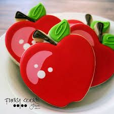 Image result for decorated apple cookie royal icing