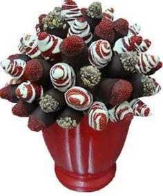 Brochetas de fresa con chocolate
