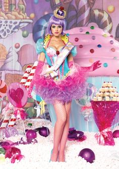 """This is SO super gorgeous but not sure if it's worth $200.  plus you'd have to get the wig, shoes, hose and accessories.  PLUS it's not really """"kid friendly"""".  But this is the best CUPCAKE QUEEN costume I've seen so far!"""