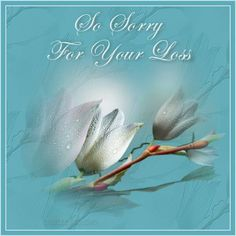 So sorry for your loss white floral graphic