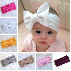 Buy 12 Colors Baby Kids Girl Child Toddler Infant Bow Hairband Knot Headband Headwear Hair Band Accessories at Wish - Shopping Made Fun Toddler Bows, Toddler Headbands, Baby Girl Headbands, Baby Bows, Toddler Girls, Baby Turban, Turban Headbands, Knot Headband, Headband Hair
