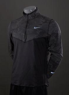 Nike Element Reflective Half Zip Top - Mens Running Clothing - Black-Black-Reflective Silver