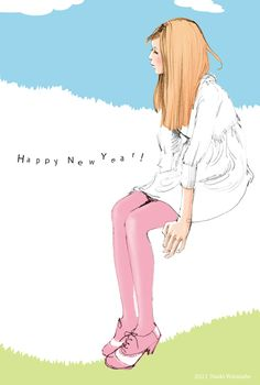naoki_wtnb_2011nenga_illust2.jpg So crazy about his drawings! #Naoki #Watanabe #fashion #drawing #illustration