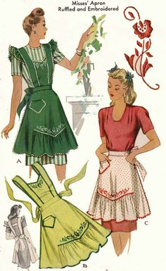 1940s Housewife Chic ~ McCall's Apron Pattern #1124