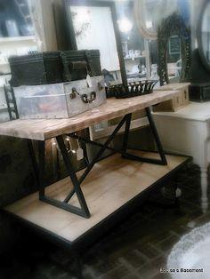 Metal and Barnwood coffee tables