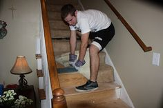 I WILL remove the carpet from my stairs... hate carpet on stairs, stupid ideal in the first place!  Thrifty Chicken: Stair Redo