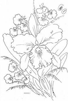 risco pintura em tecido flores