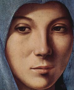 Antonello da Messina (Maria of the Annunciation, Detail: face of Mary) Art Poster Print.