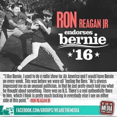 """Ron Reagan Jr endorses #Bernie2016 