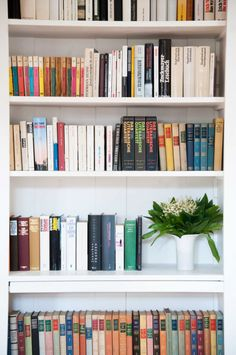 Library in the former Parish House Lily Of The Valley, Bookcase, Shelves, Flowers, House, Home Decor, Shelving, Decoration Home, Room Decor