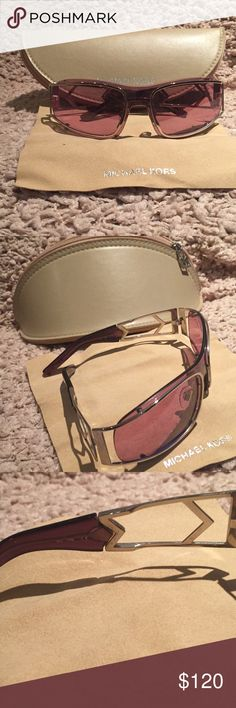 HP🎉MICHAEL KORS SUNGLASSES Authentic sunglasses in silver rims & arms with light purple lenses Used by me a few times in very good condition, no major scratches or damage, just usual wear. Comes in a case & cleaning cloth Michael Kors Accessories Sunglasses