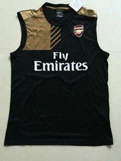 Arsenal FC Black Sleeveless Shirt [E119]