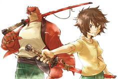 The Boy and The Beast (Bakemono no Ko), the upcoming anime film from director Mamoru Hosoda (The Girl Who Leapt Through Time, Summer Wars, Wolf Children), is inspiring a manga series before the movie. Beast Film, The Beast Movie, Film Animation Japonais, Bakemono No Ko, Mamoru Hosoda, Upcoming Anime, Japanese Animated Movies, Wolf Children, Good Anime Series