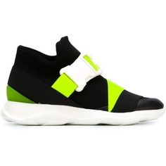 Christopher Kane mid-top buckle sneakers